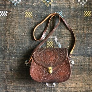 1970s Tooled Leather Purse